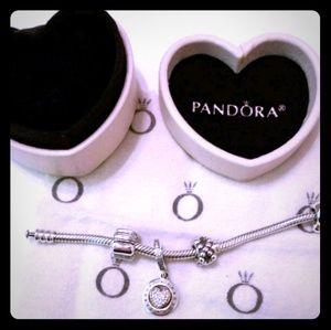 Pandora set of 3 Pretty Charms